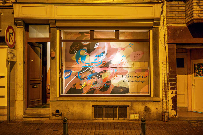 La Moindre Des Choses, art space, Bruxelles, Brussels, Brüssel - street view of the exhibition by Johannes Mundinger