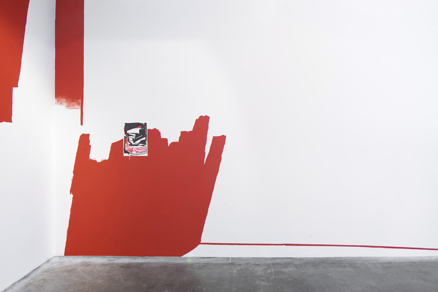 seenthrough red foil – exhibition Group Chat at Galerie SPZ, Prague