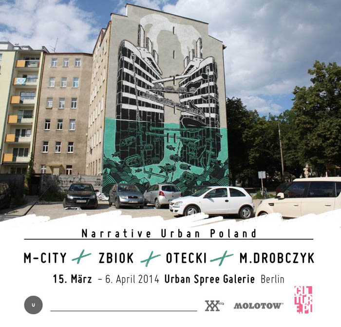 M-City / polish street art / Zbiok / Urban Art Poland / Otecki / wall painting poland / Drobczyk