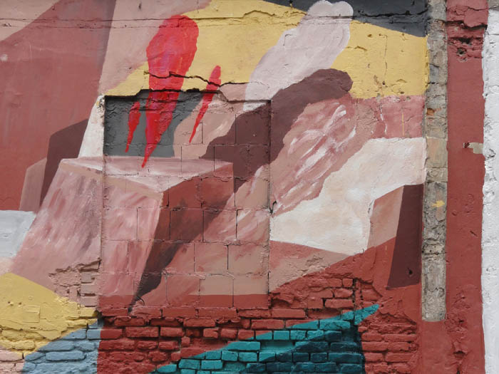 detail of the Jonas Mekas mural in Vilnis, Lithuania