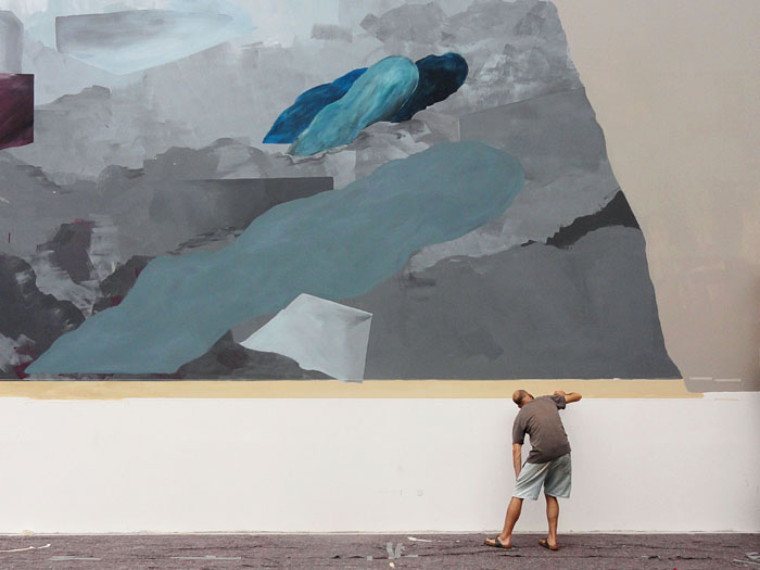 wall in progress – Wandmaler in Aktion -- Elias Errerd & Johannes Mundinger