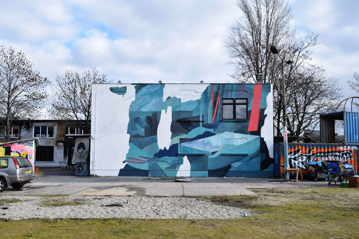 Mural by Johannes Mundinger at Urban Spree Galerie, Berlin