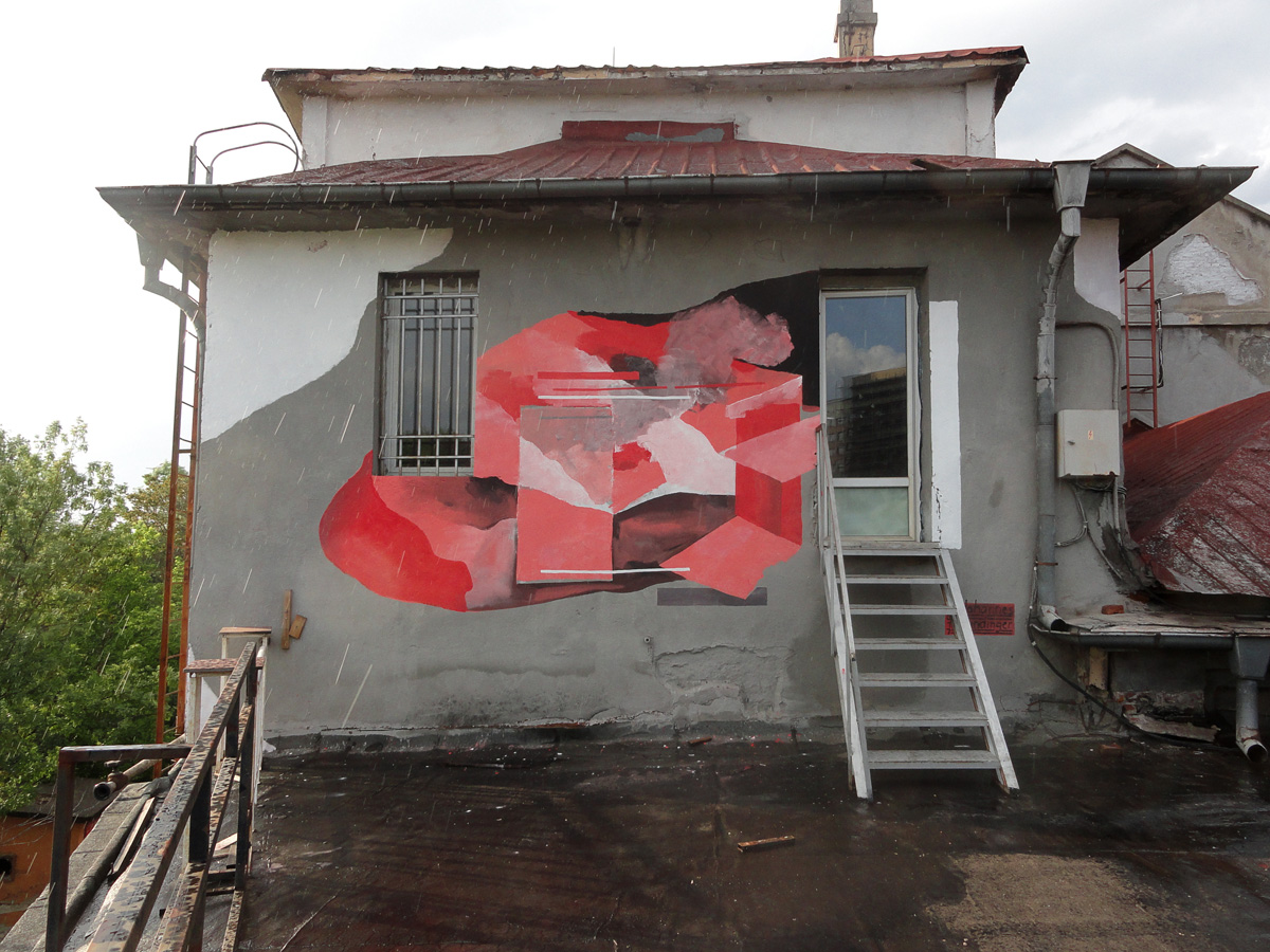wall painting in Sofia, Bulgaria, supported by the Goethe Institut Bulgarien