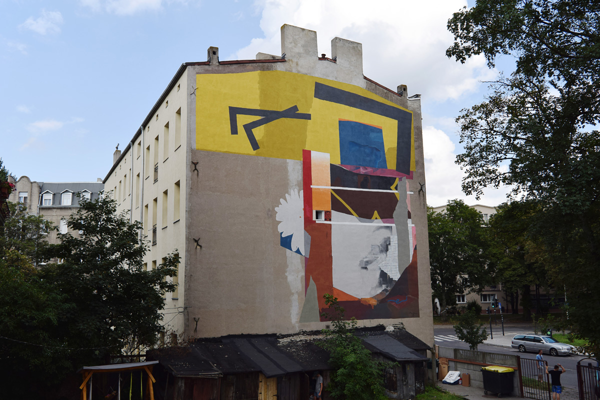 mural - Ivan Ninety and Johannes Mundinger for Urban Forms in Lodz
