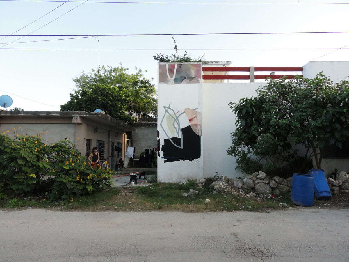 Mural in Tulum, Mexico, Blo and Johannes Mundinger