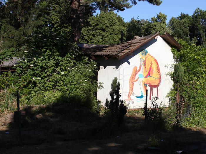 - gartenhaus-bemalung-schrebergarten-zerstoert-graffiti-berlin-malerei-fassadenbild-haus-bemalt-wand-rural-art