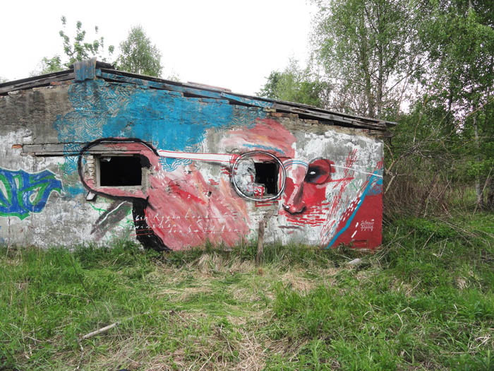 painted wall - face- sitespecific