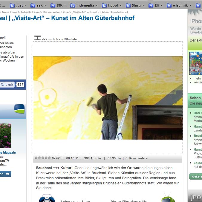 Screenshot Video - Wandmalerei - Kunst Bruchsal