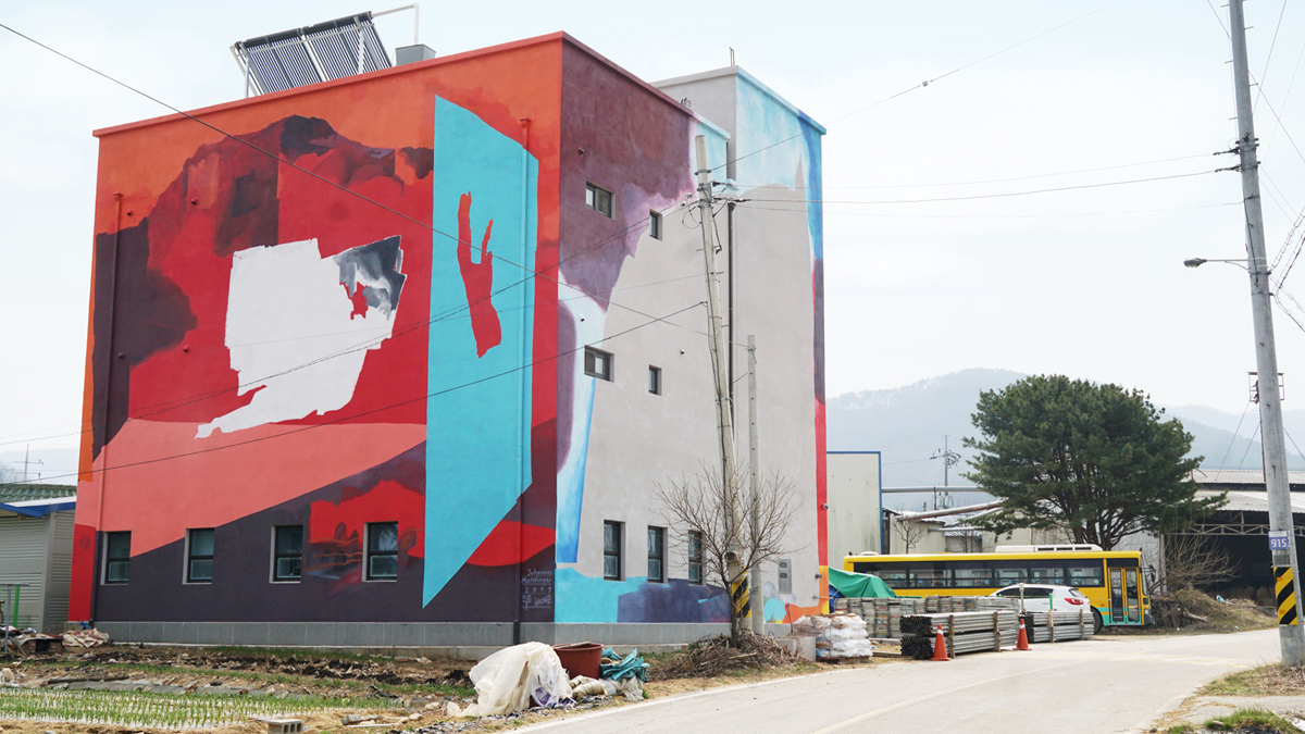 Murals by Johannes Mundinger in Yeoju, South Korea