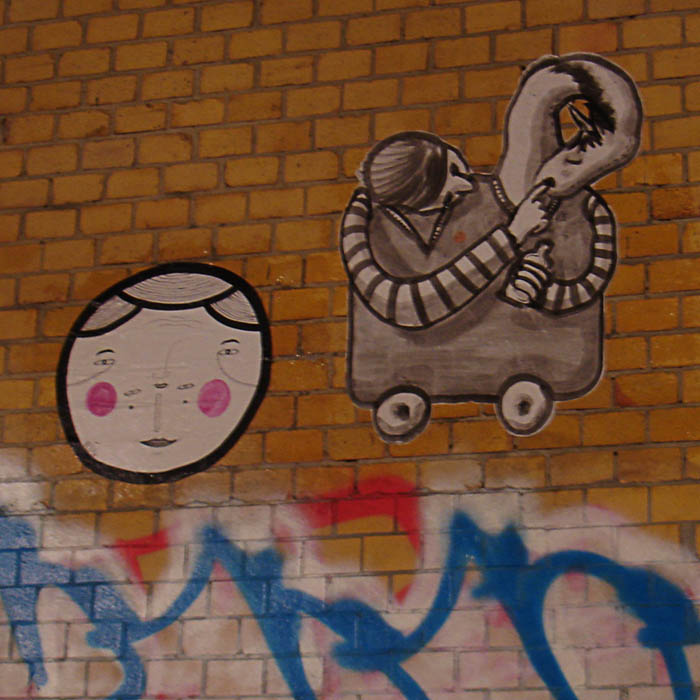 cut-out als paste-ups in Berlin