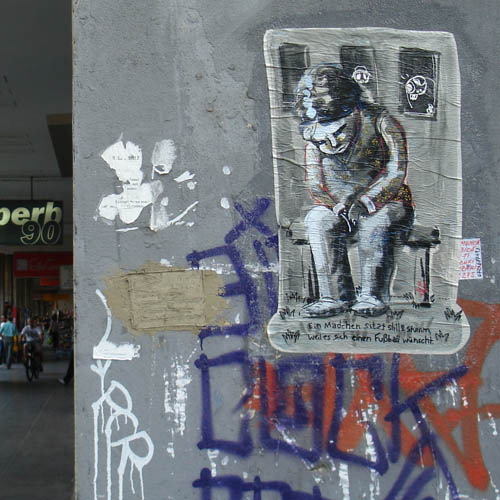 paste-up, cut-out at Bucharest